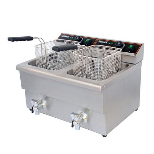 Blizzard Double Electric fryer with tap